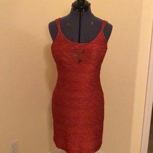 Newport News stretch raised patterned dress.